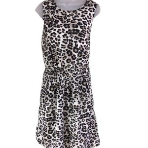 Cheetah dress sleeveless blouson Van Heusen size 4